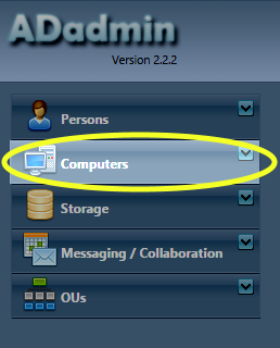 In the left menu column, click the Computers link.