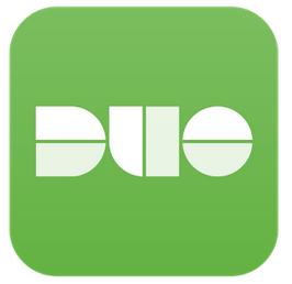 Image of the square shaped green and white Duo logo