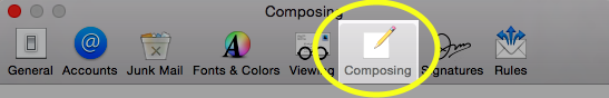 Select the Composing tab.