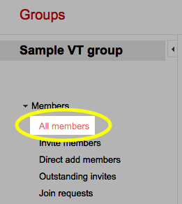 In the left pane, under Members, click the All Members link.
