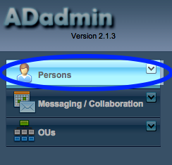 Image of Click the Persons menu.
