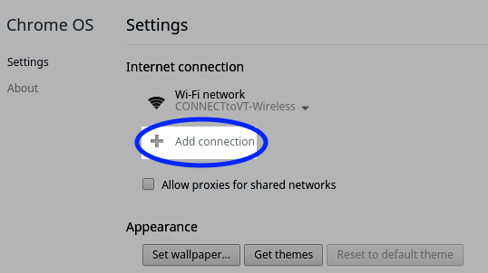 Click Add connection.