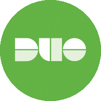 Image of the green and white logo of Duo authentication