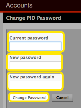 Enter a new PID password.