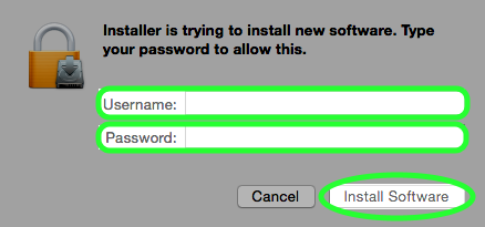 Click the Install Software button.