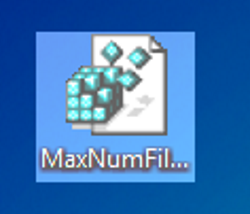 O ícone MaxNumFilters