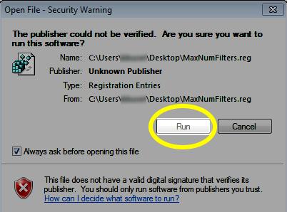 Imagem do botão Run