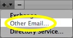 Select Other Email...