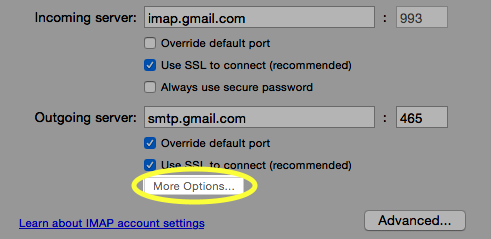 Click the More Options... button.