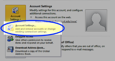 Select Account Settings...