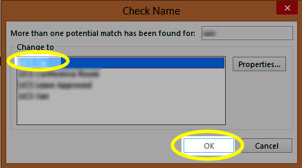 Select the appropriate mailbox, and click OK.