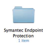 Double-click the Symantec Endpoint Protection folder icon.